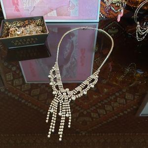 Glam rhinestone statement necklace
